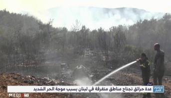 لبنان .. الحرائق تجتاح عدة مناطق متفرقة في لبنان