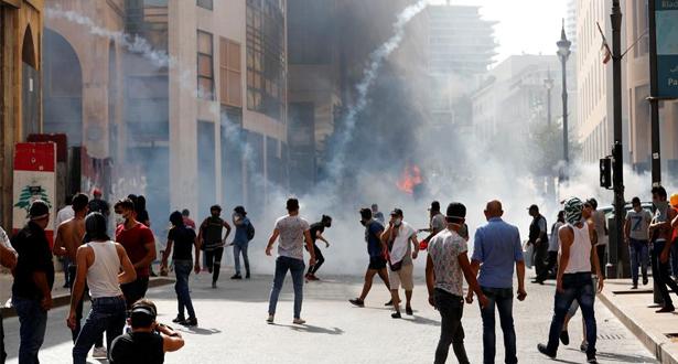 لبنان .. مظاهرات عنيفة في محيط البرلمان