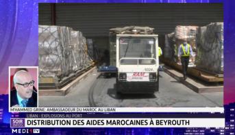 Distribution des aides marocaines à Beyrouth