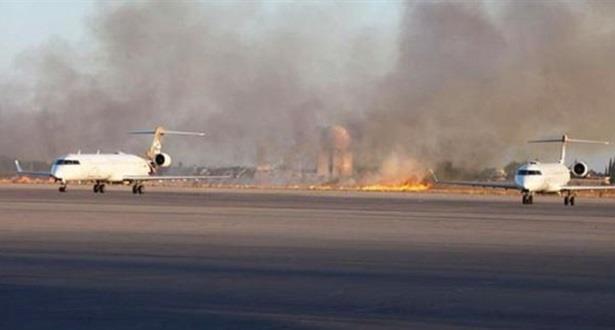 ليبيا .. إصابة حجاج ليبيين على إثر تعرض مطار معيتيقة للقصف
