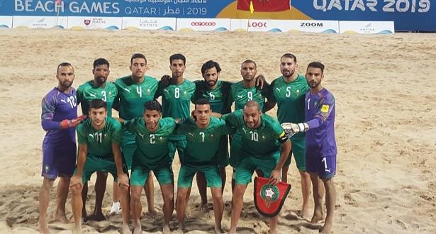"""""""أسود"""" الكرة الشاطئية يفوزون على المنتخب الإماراتي"""