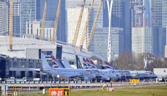 """مطار """"لندن سيتي"""" يعلق جميع الرحلات بسبب فيروس كورونا"""