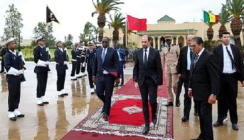Le Président sénégalais Macky Sall quitte le Maroc