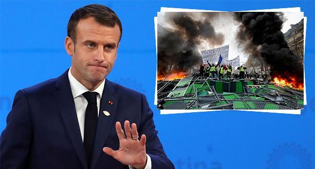ماكرون يعلق من الأرجنتين على تصاعد الاحتجاجات في باريس