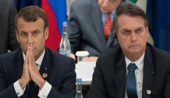 """Macron accuse Bolsonaro d'avoir """"menti"""" sur le climat"""