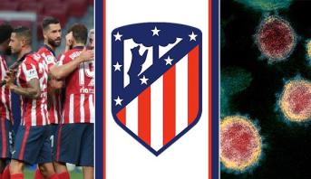 """أتلتيكو مدريد يعلن عن حالتي إصابة بـ""""كوفيد ـ 19"""" في صفوفه"""