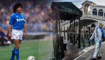 رسالة دعم من مارادونا للإيطاليين