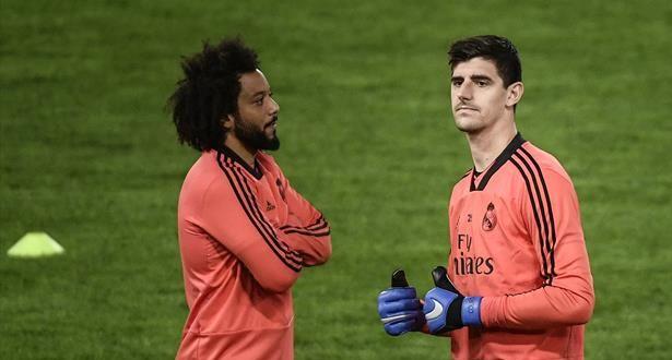 ريال مدريد يصدر بيانا بشأن إصابة مارسيلو وكورتوا