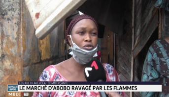 Abidjan: le marché d'Abobo ravagé par les flammes