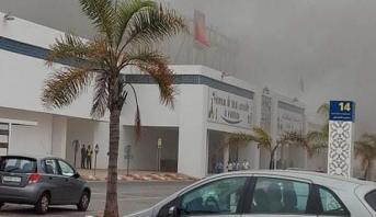 """الحريق بالمركز التجاري """"مرجان حي الرياض"""" بالرباط خلف أضرارا مادية خفيفة"""