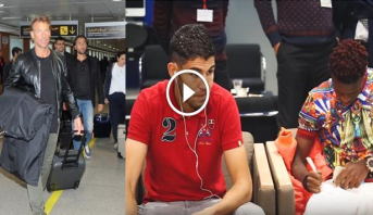 فيديو .. لحظة وصول بعثة المنتخب المغربي إلى أرض الوطن