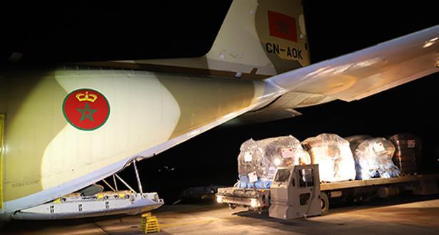 وصول المساعدة الإنسانية العاجلة الموجهة إلى الموزمبيق بتعليمات ملكية سامية
