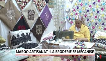 Maroc-artisanat: la broderie se mécanise