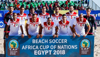 CAN-2018 de Beach-soccer : Le Maroc termine 4ème
