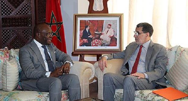 العثماني يجري مباحثات مع وزير الشؤون الخارجية والتعاون بجمهورية بنين