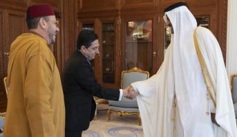 أمير دولة قطر يستقبل مستشار الملك محمد السادس ، فؤاد عالي الهمة