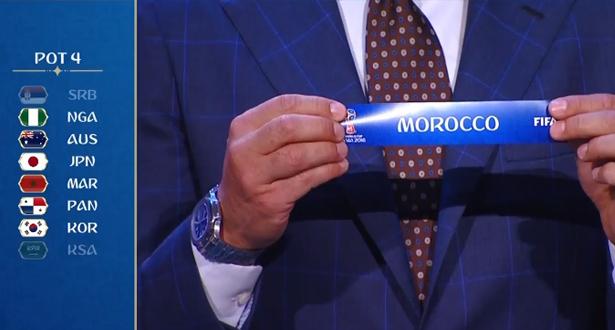 Tirage au sort : le Maroc fixé sur ses adversaires au Mondial 2018