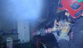 حريق بمستودع ملابس نادي المغرب التطواني