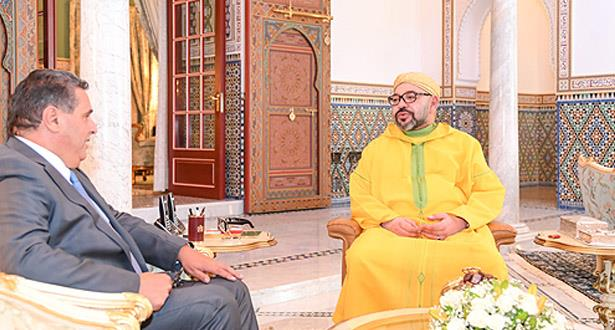 الملك محمد السادس يستقبل عزيز أخنوش