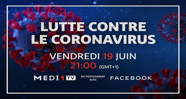 """Les médias jettent la lumière sur l'émission """"Lutte contre le coronavirus"""" réalisée par MEDI1TV en partenariat avec Facebook"""