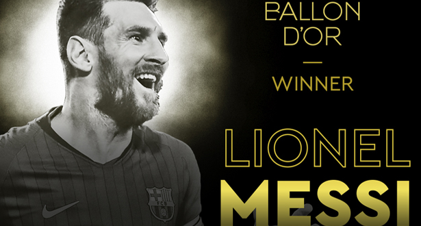 Foot: Lionel Messi remporte son 6e Ballon d'Or, record absolu