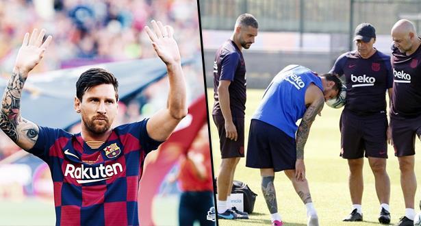 Liga: Messi se blesse à son premier entraînement