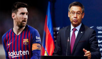 """رئيس برشلونة يؤكد وجود """"واجب"""" لتجديد عقد ميسي"""