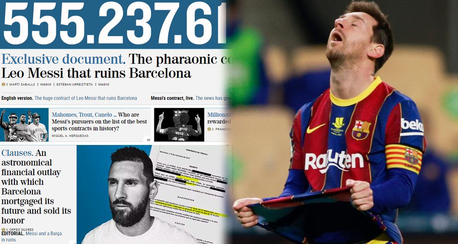 """بيان برشلونة على ما وصفته """"إلموندو"""" بـ""""العقد الفرعوني"""" لميسي"""