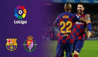 """برشلونة يدك شباك فريق """"رونالدو"""" بخماسية، وميسي كلمة السر"""