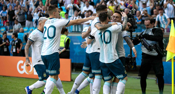الأرجنتين تعبر إلى الربع وقطر تودع كوبا أمريكا