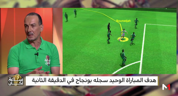 مدرب جزائري يحلل هدف بونجاح بتقنية الـ 3D