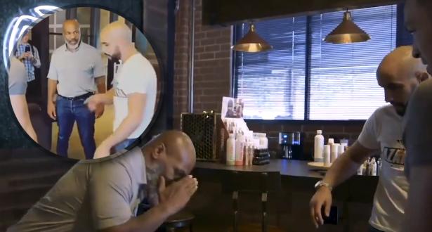 فيديو .. تايسون يسترجع مهاراته في فنون القتال أمام أنظار أبو زعيتر
