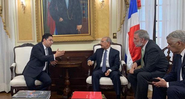بوريطة يتباحث بسانتو دومينغو مع وزير خارجية جمهورية الدومينيكان
