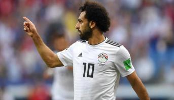 صلاح يسجل هدفا رائعا لمصر في مرمى السعودية