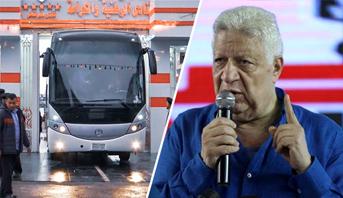"""حافلة الفريق لم تصل الملعب .. أزمة جديدة للزمالك وتصريحات """"نارية"""" لرئيسه مرتضى منصور"""