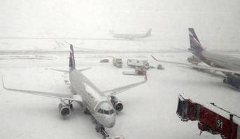 سوء الأحوال الجوية يُلغي أزيد من ألف رحلة من روسيا إلى الولايات المتحدة