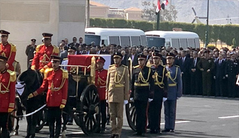 تشييع جثمان الرئيس المصري الأسبق حسني مبارك