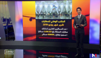 شاشة تفاعلية.. ارتفاع حركة النقل الجوي للمسافرين