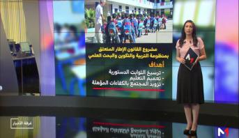 شاشة تفاعلية.. مضامين مشروع القانون الإطار المتعلق التربية والتكوين