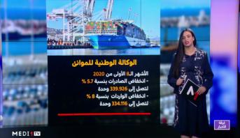 شاشة تفاعلية .. النقاط الرئيسية في نشرة  الوكالة الوطنية للموانئ