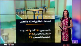 شاشة تفاعلية.. معطيات وأرقام حول امتحانات البكالوريا
