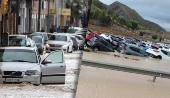 Inondations du sud-est de l'Espagne : le bilan s'alourdit à sept morts