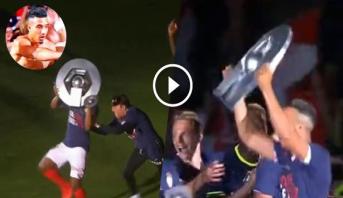 """نبيل درار """"يهرب"""" بدرع البطولة الفرنسية في احتفالات موناكو"""