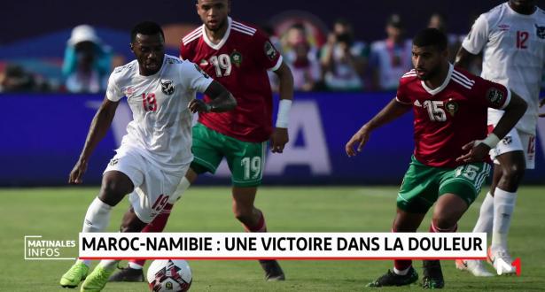 Maroc-Namibie: une victoire dans la douleur