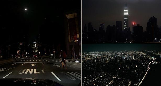 نيويورك تغرق في الظلام
