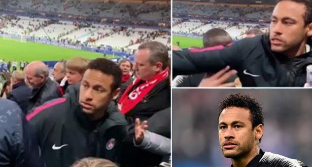 Coup au visage d'un supporter: Neymar reconnaît son tort