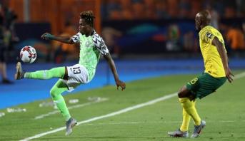 """""""كان 2019"""" .. نيجيريا تبلغ نصف النهائي على حساب جنوب إفريقيا"""