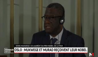 Oslo: Mukwege et Murad reçoivent leur Nobel