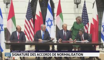 Signature à Washington des accords de normalisation entre Israël, les Emirats arabes unis et Bahreïn