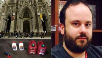 توقيف شخص يحمل مواد قابلة للاشتعال في كاتدرائية في نيويورك